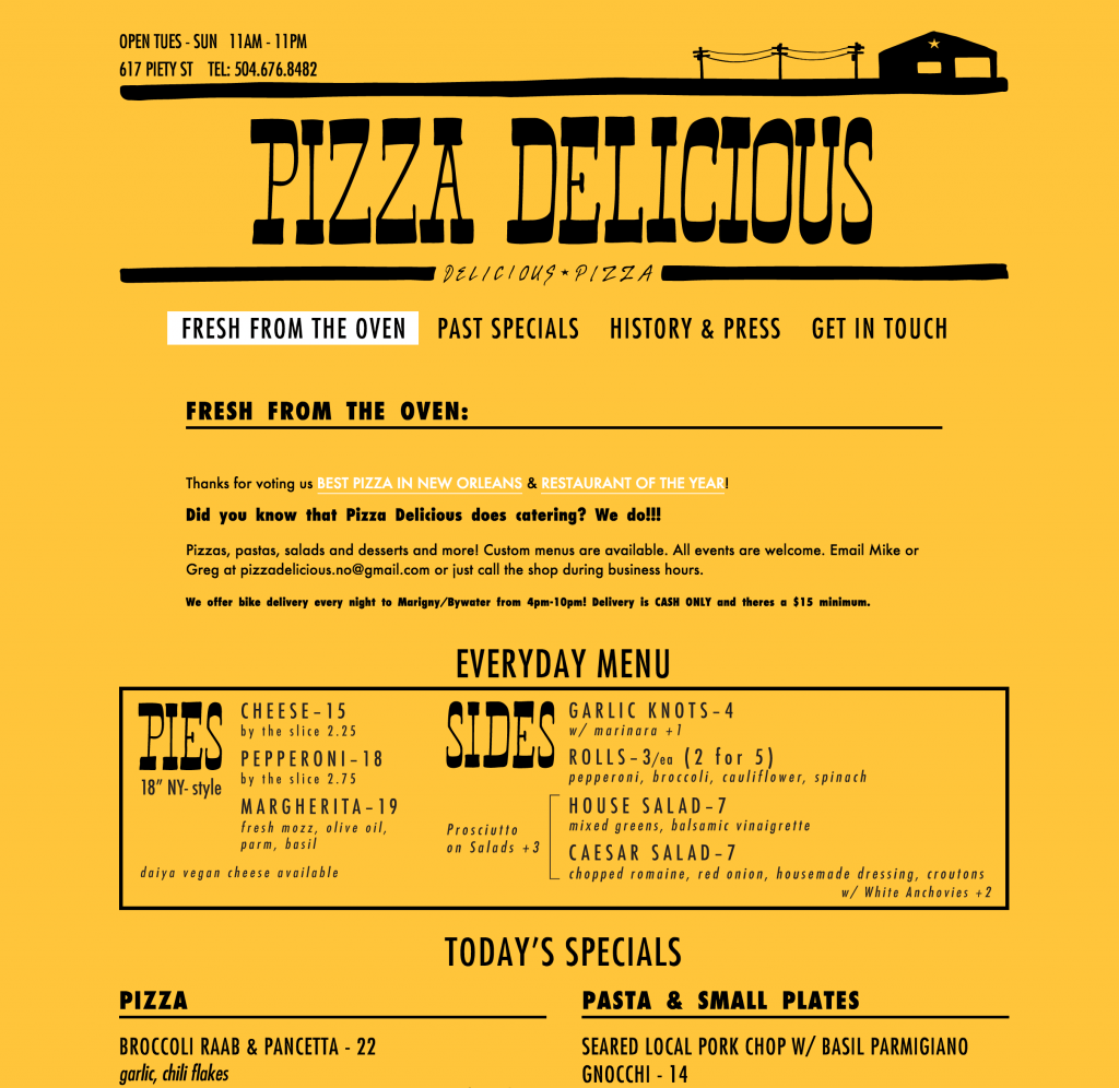 pizza d - homepage
